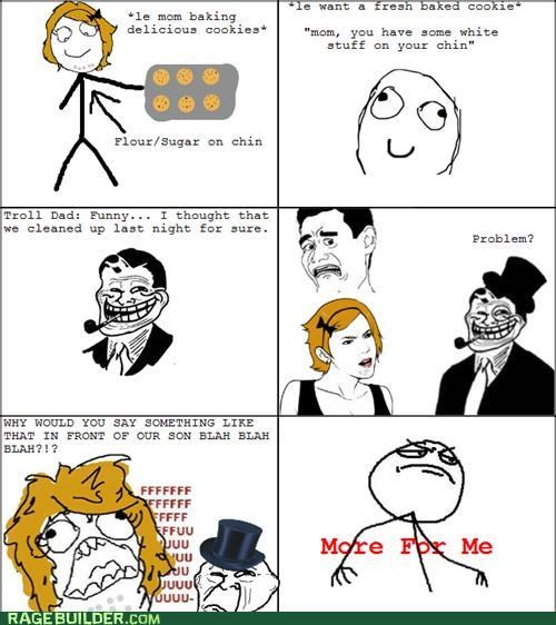 cookies,naughty,Rage Comics,troll dad