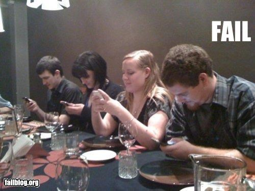 cell phone,dinner,failboat,g rated,restaurant,sign of the times,technology