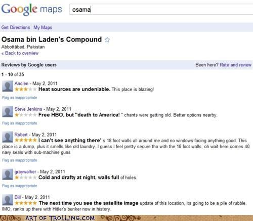 bin Laden,compound,google,osama,reviews