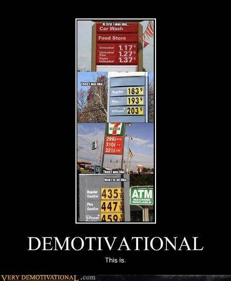 demotivational,gas prices,Sad
