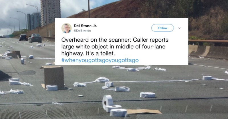 Collection of ridiculous things that people have overheard on the police scanner, and then shared on Twitter.