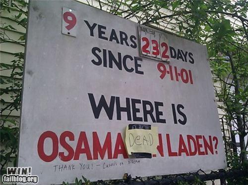 fixed hacked osama politics signs