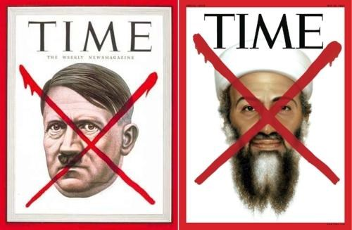 hitler,magazine cover,Osama Bin Laden,time