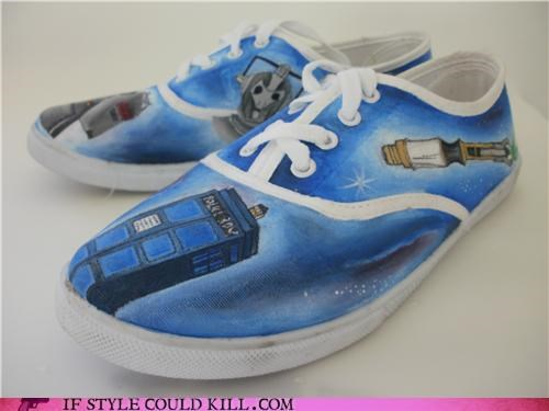 crazy shoes custom sneakers doctor who sneakers - 4718216960