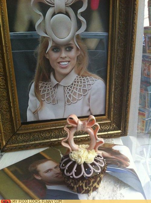 cupcake fondant hat phillip treacy princess beatrice of york royal wedding - 4718323200