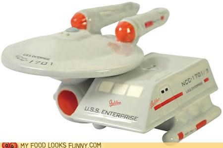 enterprise salt and pepper shakers seasoning Star Trek - 4718329344