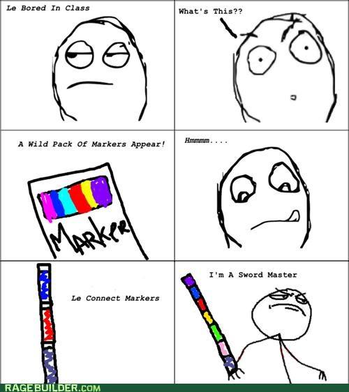 class markers master Rage Comics swords - 4718377472
