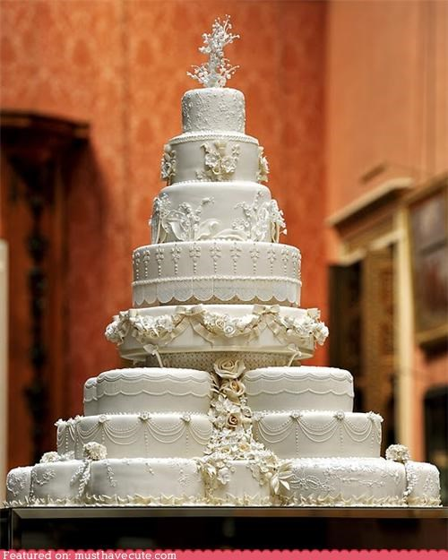 cake,decorated,epicute,fondant,frosting,fruitcake,icing,royal wedding,tall