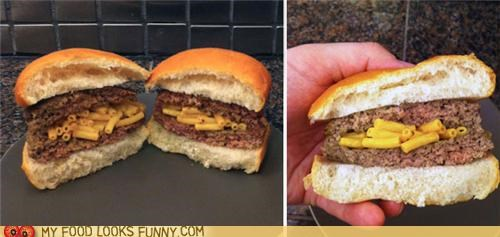 burger,mac n cheese,stuffed,surprise