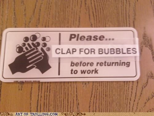 bubbles,clap,hygeine,sanitary,washing hands