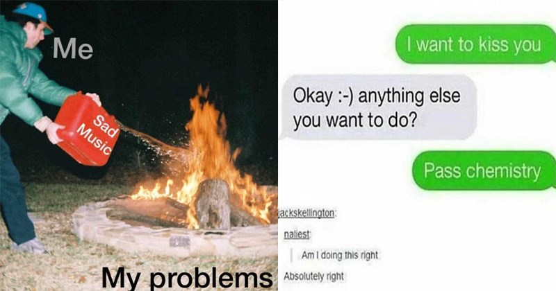 Funny memes and depressing memes about college, school, university, dating, sex, relationships, food, studying.