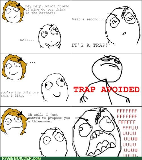 girlfriend,not,Rage Comics,threesome,trap