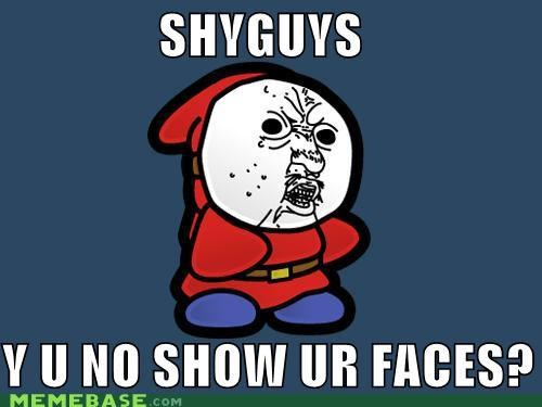 faces,mario,shy guys,video games,Y U No Guy,yoshi
