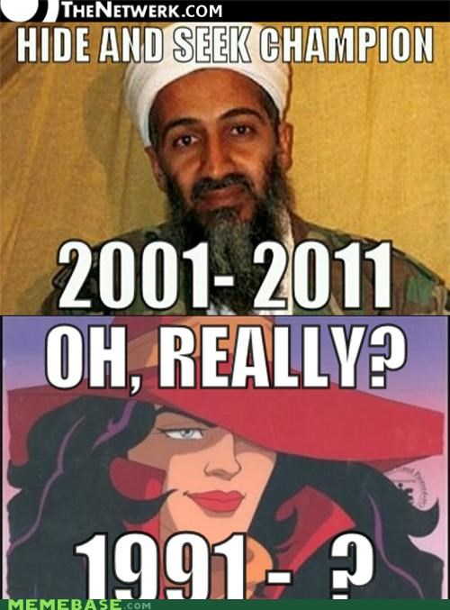 carmen sandiego,hide and seek,Memes,Osama Bin Laden,Reframe