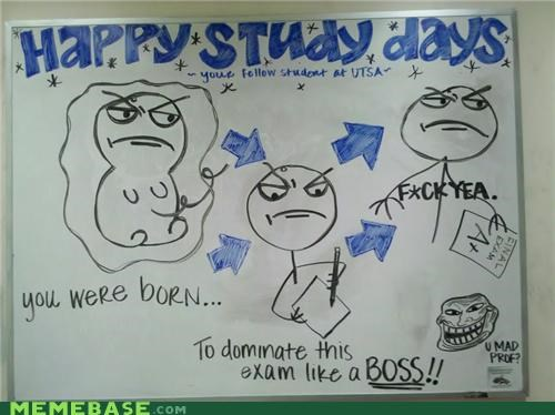 finals,IRL,Like a Boss,school,troll face