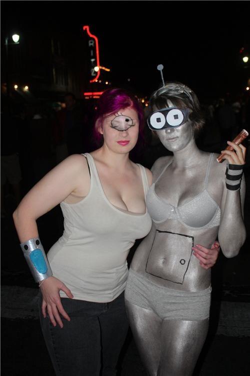 bender cosplay futurama leela tv shows - 4718862592