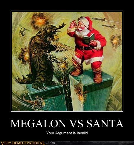 fight Invalid Argument Japan megalon santa