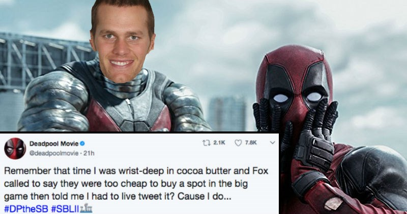 Deadpool live-tweets his reactions to the Super Bowl, and it's comedy gold.