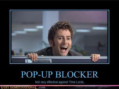doctor who,hilarious,internet,pop up blocker