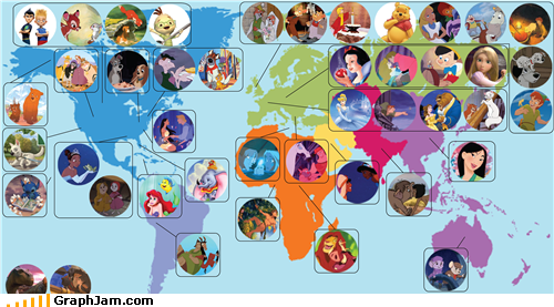 animation disney locations Maps movies - 4719880704