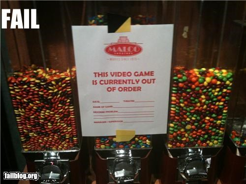 candy failboat g rated out of order sign vending video games - 4720238080