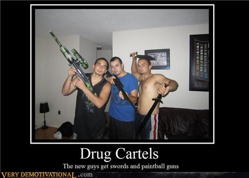 drug cartels,hilarious,paintball,swords