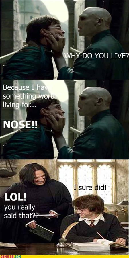 Harry Potter nose voldemort
