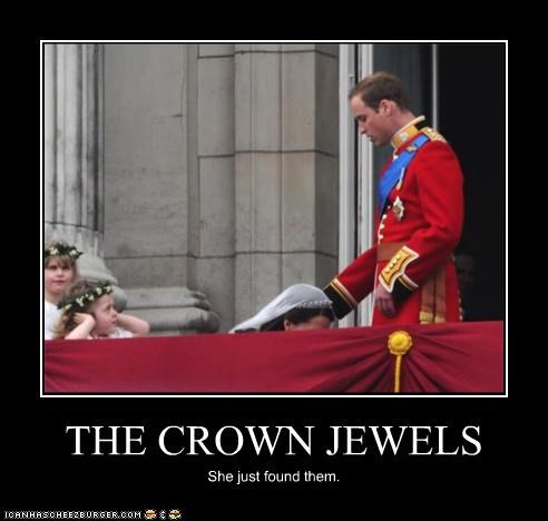 THE CROWN JEWELS She just found them.