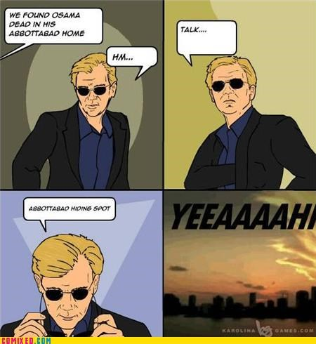 csi miami,osama,pun,the internets
