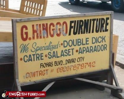 dick,double,furniture,sign