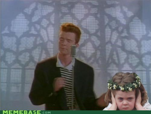flower girl Memes rickroll royal sunday - 4721662464