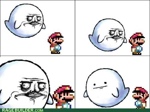 boo,mario,me gusta,poker face,Rage Comics,video games