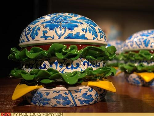 art,burger,ceramic,layers,pattern,porcelain,sculpture