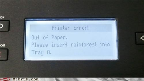 Forest,hack,paper,printer