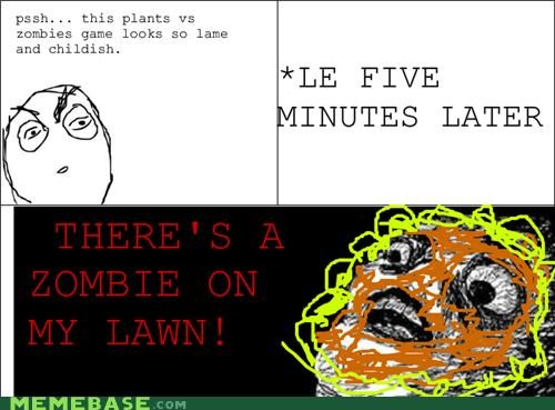 Flower lawn Rage Comics video games zombie - 4722181376