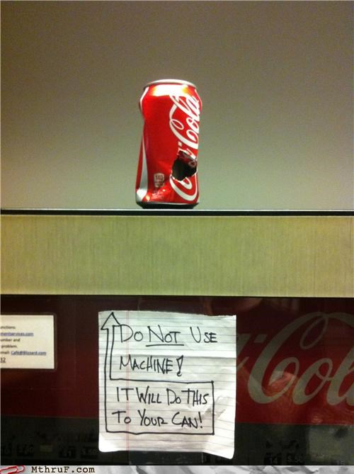 coke,hole,note,vending machine