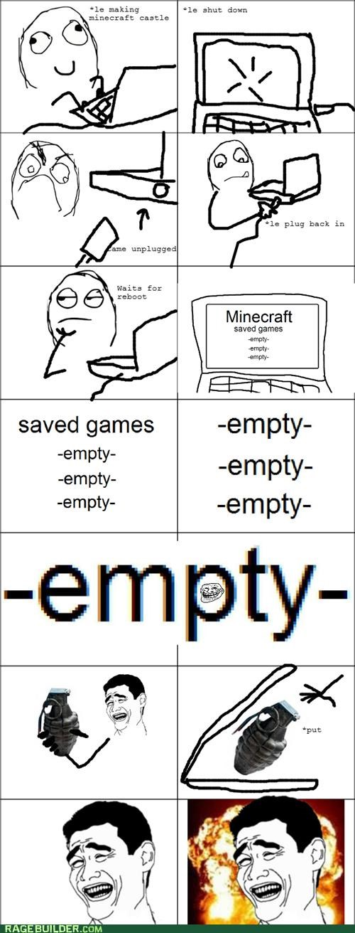 empty Rage Comics save video games - 4722327808