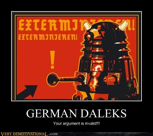 dalek doctor who german hilarious wtf - 4722494976