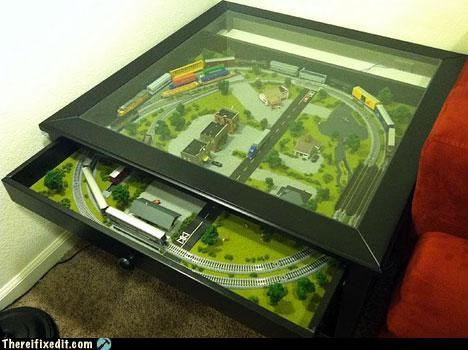 ikea not a kludge table toys trains Video