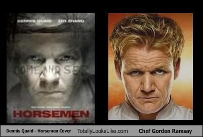 Dennis Quaid - Horsemen Cover Totally Looks Like Chef Gordon Ramsay