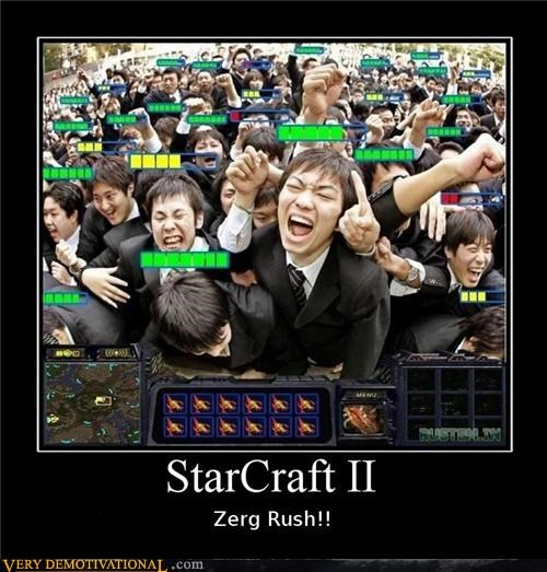 hilarious star craft zerg rush