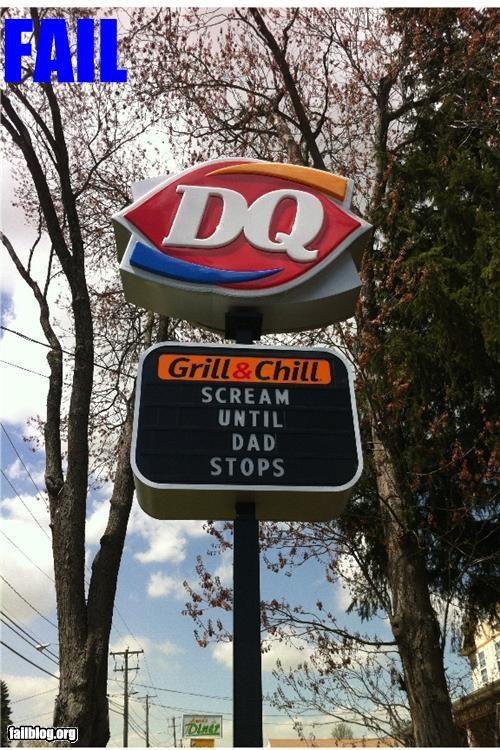 bad idea facepalm failboat ice cream innuendo marquee parents phrase signs - 4723020544