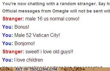 Omegle,pedobear,pope,vatican