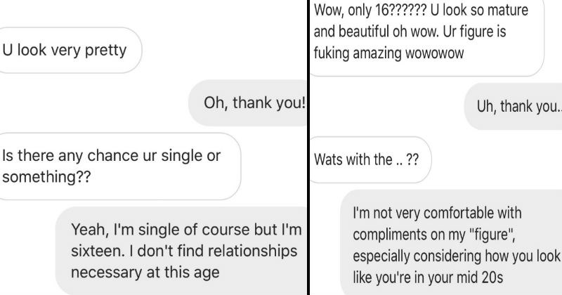 Creepy guy freaks out on girl after she turns him down on texting conversation.