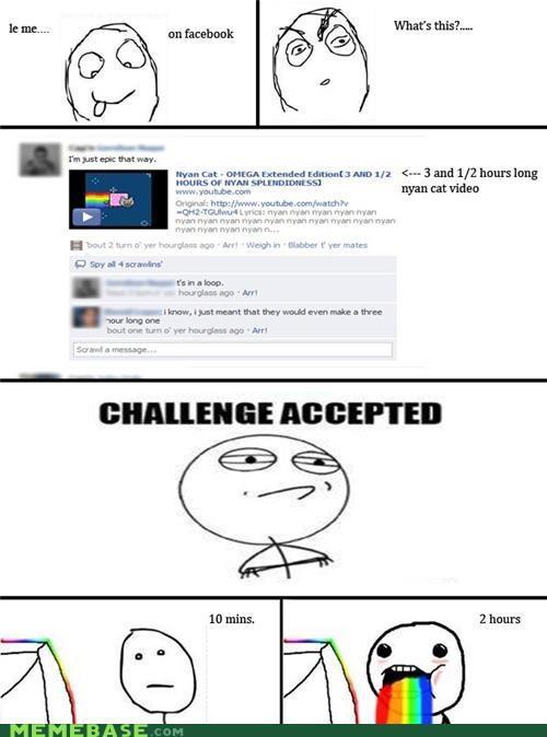 challenge,infinity,nyancat,Rage Comics,rainbow
