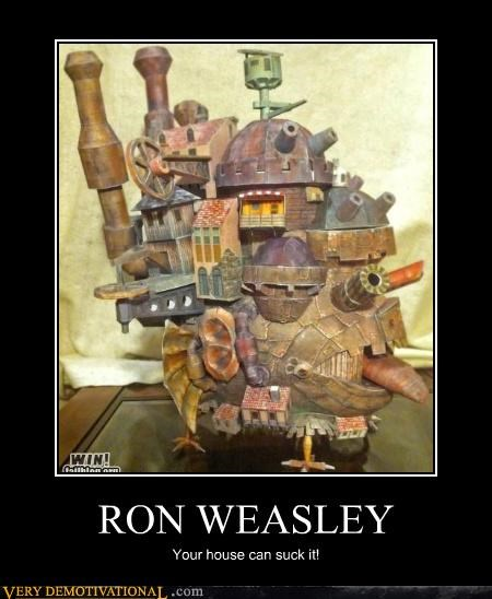 Harry Potter hilarious house howls-moving-castle Ron Weasley - 4724765952