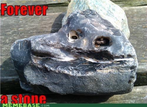 forever,forever alone,medusa,rock,stone