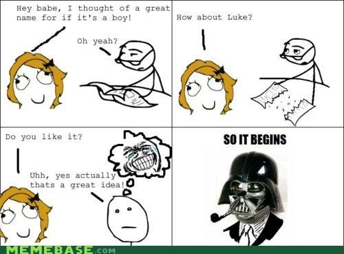 darth vader,Luke,Rage Comics,star wars,trolldad
