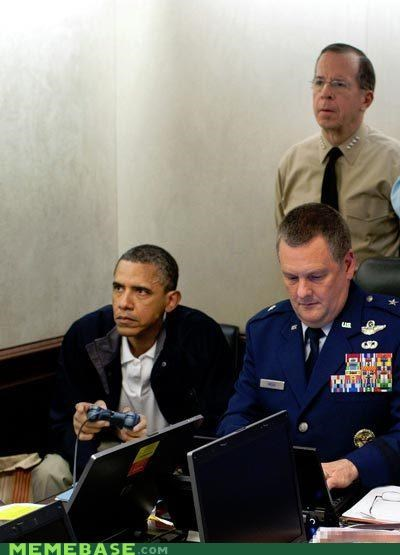 great shot,Memes,obama,osama,playstation