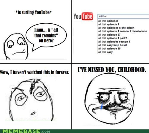all that childhood cry nickelodeon Rage Comics